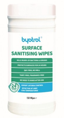 Byotrol QFS Surface Sanitising Wipes (150 white)