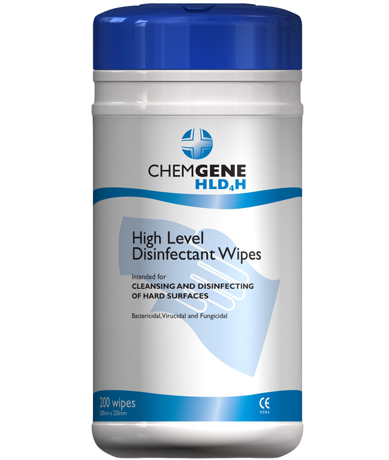 CHEMGENE HLD4H SURFACE WIPES
